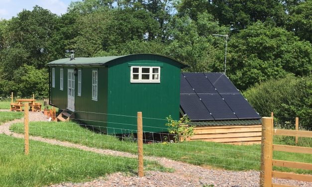 Solar Powered Shepherds Hut